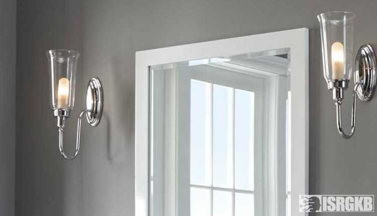 Classic Bathroom Mirror And Wall Light