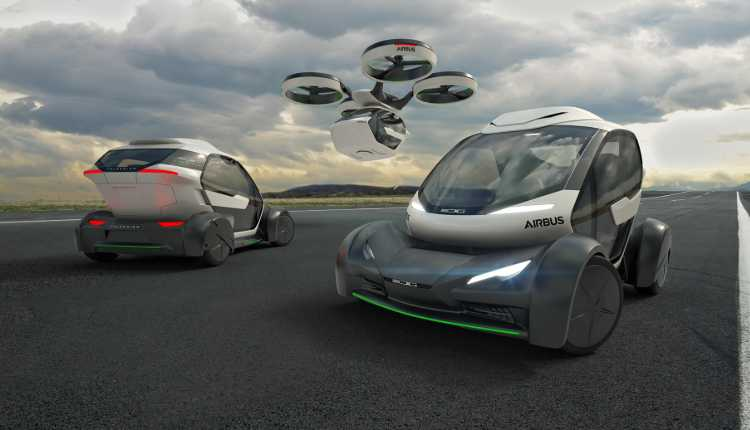 Electric Self Driving Cum Flying Cars