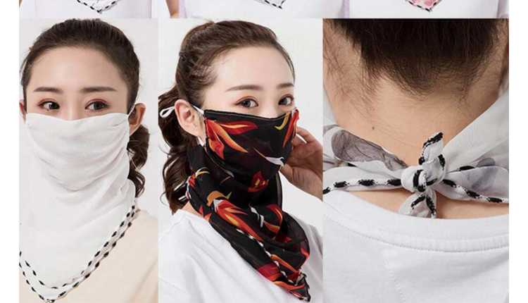 Mask Scarf With Stole
