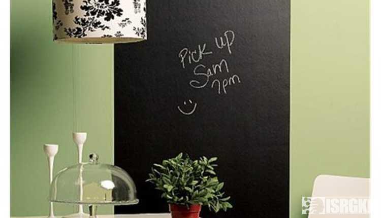 Stick On Blackboard
