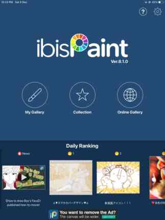 The Interface Of Ibis Paint