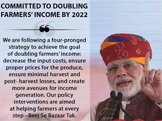 Farmers To Double Their Income By 2022, Modi