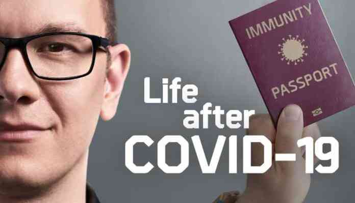 The image says Life after COVID