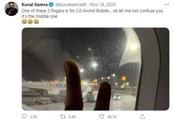 Kunal Kamra's Tweet On Cji, Arvind Bobde