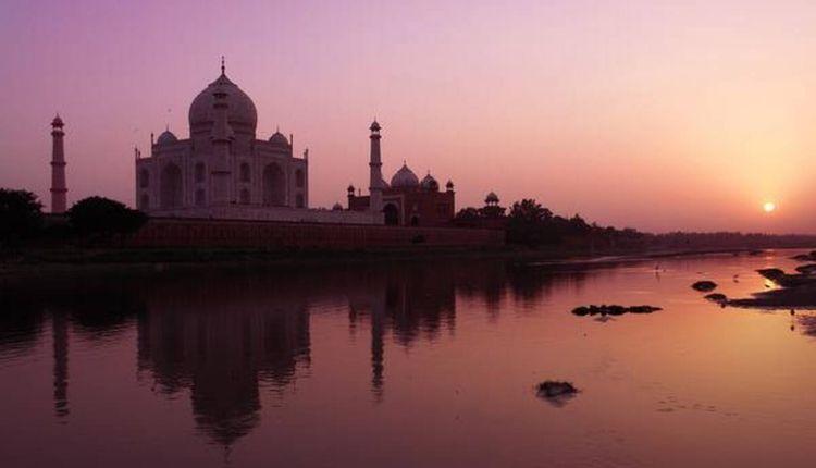 Taj Mahal Shadow In Night, Black Taj Mahal