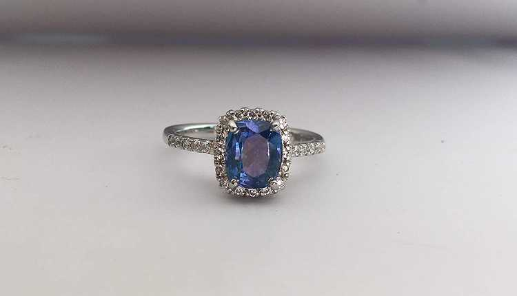 Saturn, Shani, Blue Sapphire Ring