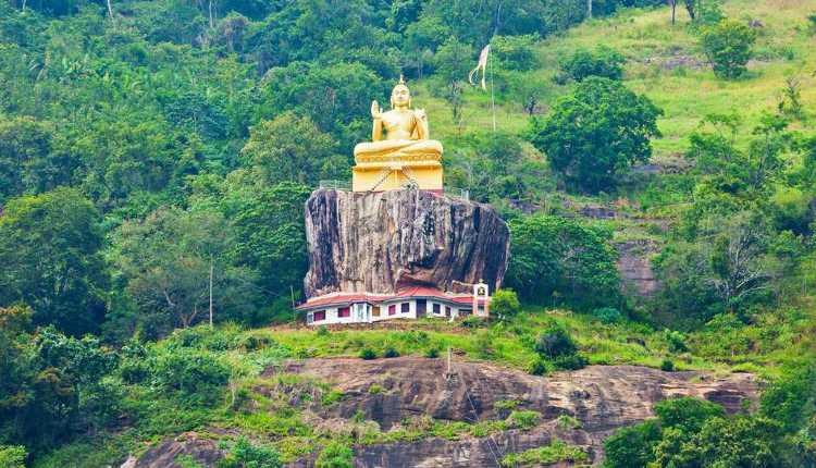 Sri Lanka, Aluviharaya Rock Cave Temple, Ceylon
