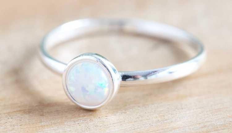 Venus, Shukra, Opal Silver Ring