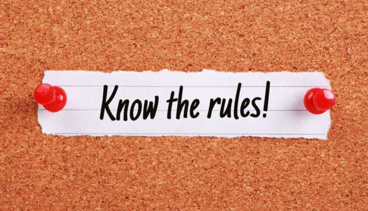 Know The Rules, Rules, Guidelines, Instructions