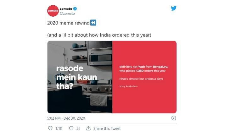 Zomato, Meme, Advertising