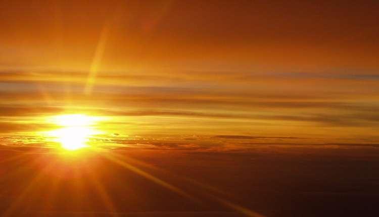 Venus, Uranus, Sunrise, Sunrise From West