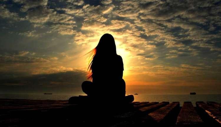 Girl Sitting, Meditation, Sunrise, Spiritual Journey